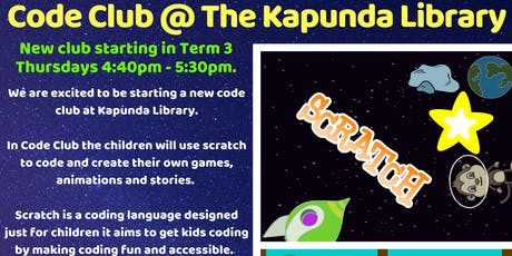 NEW Term 3 Code Club @ Kapunda Library tickets