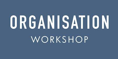 Organisation Workshop tickets