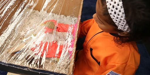 Alphabet rocket combo and astronaut glove exploratory boxes (ages 6-8)