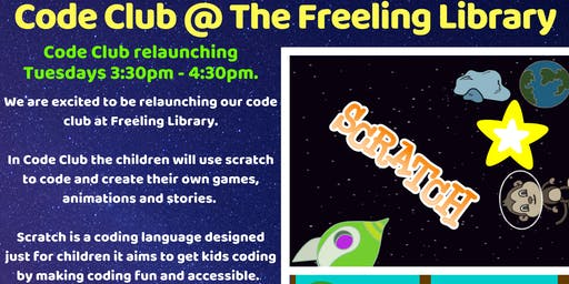 Term 3 Relaunch: Code Club @ Freeling Library