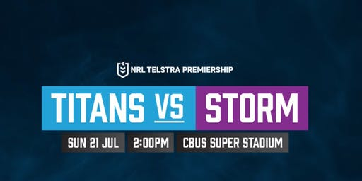 Titans vs Storm NRL game, round 18