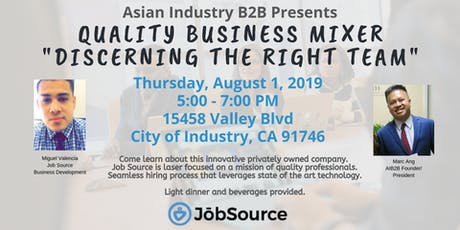 """AIB2B Presents Quality Business Mixer """"Discerning The Right Team"""" tickets"""