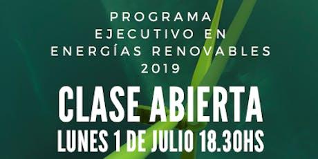 """Clase Abierta """"ENERGÍAS RENOVABLES 2019 en UCES"""" entradas"""