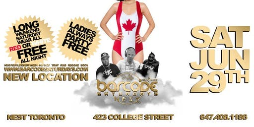 Barcode Saturdays Canada Day Party