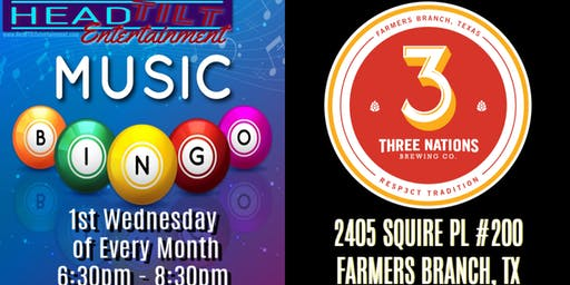 Music Bingo at Three Nations Brewing Co. - Farmers Branch, TX