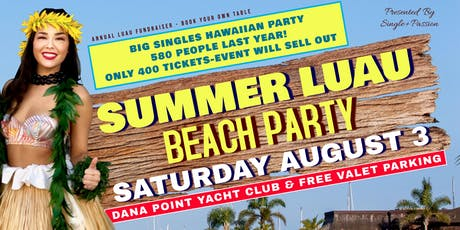 Hawaiian Singles Beach Party, Only 400 Tickets -> Event Will Sell Out! tickets