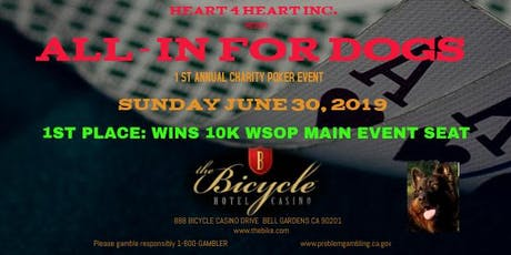 ALL IN FOR DOGS - first annual charity poker event tickets
