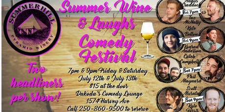 Summerhill Pyramid Winery presents the Summer Wine & Laughs Festival tickets