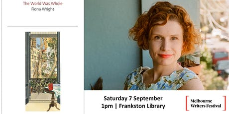 Melbourne Writers Festival presents Fiona Wright and Elizabeth Flux tickets