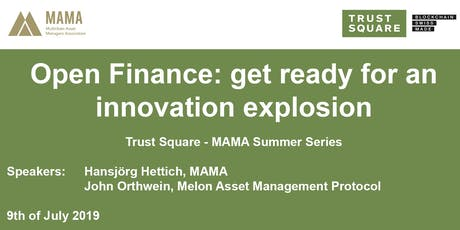 Open Finance: get ready for an innovation explosion tickets
