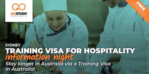 Training visa for Hospitality Seminar - Sydney