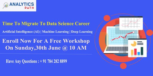 Enroll For Free Workshop Session on Data Science On Sunday, 30th June @ 10