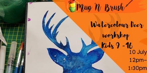 Watercolour workshop -  Kids 9 - 16yrs. School Hol