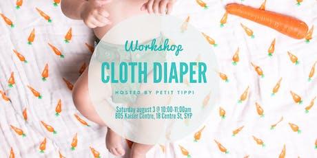 Aug Cloth Diaper Workshop | Petit Tippi tickets