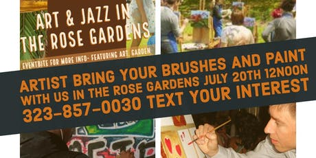 Paint with friends in the Rose Gardens  tickets