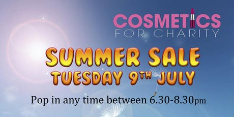 Cosmetic pop up shop for charity 50-75% off RRP tickets