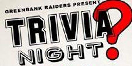 Greenbank Raiders RLFC Trivia Night tickets