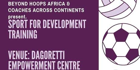 Sport for Development Training tickets