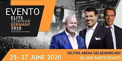 Elite Seminar Alemania con Tony Robbins, Eric Worre y Arnold Schwarzenegger.