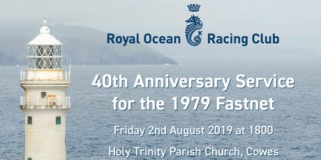 40th Anniversary Service for the 1979 Fastnet tickets