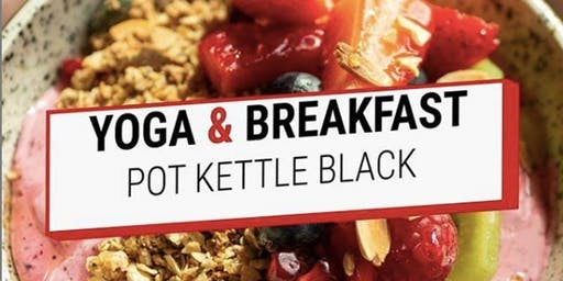 Rooftop yoga and breakfast