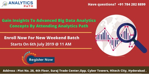 Register For New Weekend Batch On Data Science From 6th July, 11 AM, Hyd
