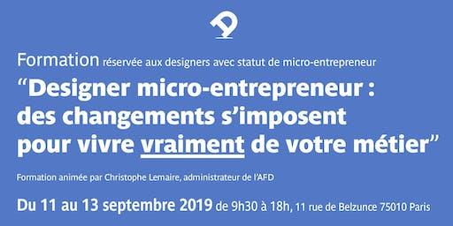 Formation pour designer micro-entrepreneur : des changements s'imposent pour vivre vraiment de votre métier