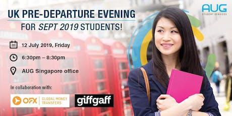 UK Pre-departure Evening tickets