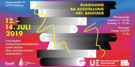 RUNDGANG – Bachelor-Ausstellung – Abteilung Bauhaus  (Jahresausstellung) Tickets