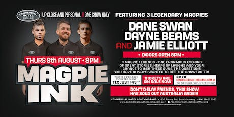 Magpie Ink feat Swanny, Beams & Elliott at The Commercial Hotel! tickets