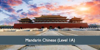 Mandarin Chinese (Level 1A) - October 2019
