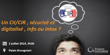 Un CII/CIR , sécurisé et digitalisé , info ou intox ?  billets