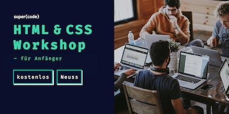 HTML & CSS Workshop –für Anfänger in Neuss Tickets