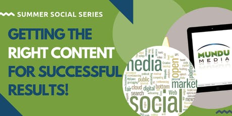 Getting the right content for successful results! tickets