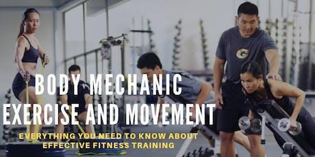 Body Mechanic-Exercise & Movement (SKILLSFUTURE)  tickets