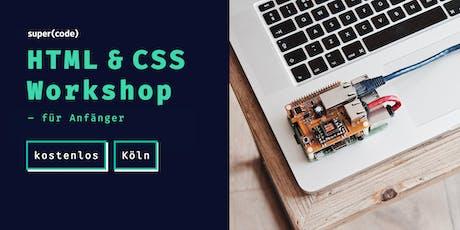 HTML & CSS Workshop –für Anfänger in Köln Tickets