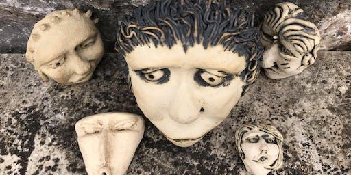 Making Clay Masks (with Tina Hill-Art, potter) Sunday