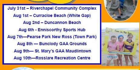 Fun in the Sun 2019 Rosslare Recreation Centre