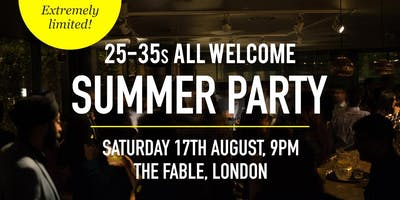 British Asian Summer Party Social Evening - 25-35s | London