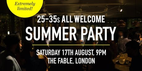 British Asian Summer Party Social Evening - 25-35s | London tickets