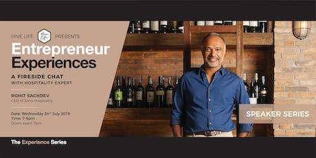 Entrepreneur Experiences x Rohit Sachdev  tickets