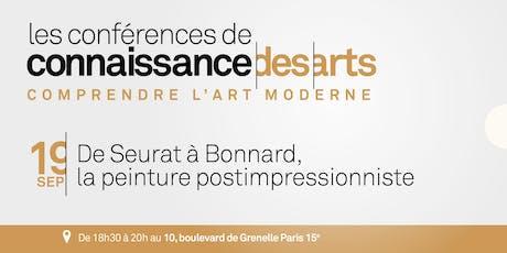 De Seurat à Bonnard, la peinture postimpressionniste billets