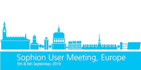 Sophion User Meeting 2019 - Europe billets