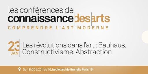 Les révolutions dans l'art : Bauhaus, Constructivisme, Abstraction