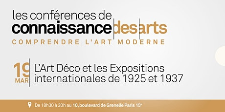 L'Art Déco et les Expositions internationales de 1925 et 1937 billets