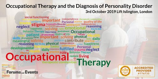 Occupational Therapy and the Diagnosis of Personality Disorder 3rd October 2019