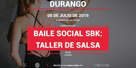 Baile social SBK: Taller de Salsa en Pause&Play Durango Estación entradas