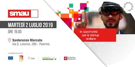 Le opportunità per le startup siciliane biglietti