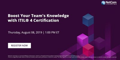 Virtual Event - Boost Your Team's Knowledge with ITIL® 4 Certification