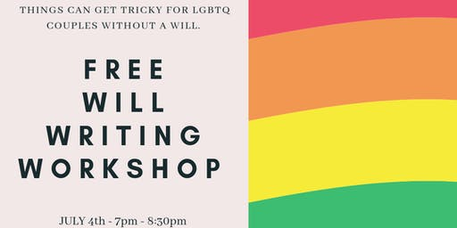 Pride Lives on: Free Will Writing Workshop for LGBTQ and Allies
